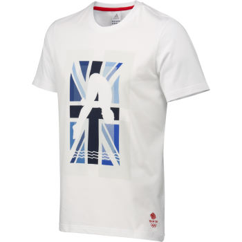 Adidas London Olympics 2012 Team GB Swim Graphic Tee