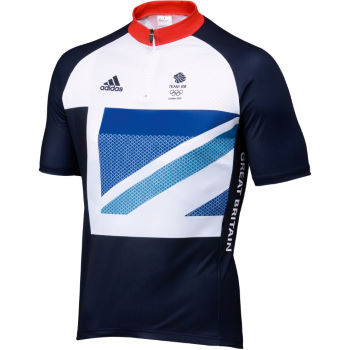 Adidas London Olympics 2012 Team GB SS Cycling Jersey