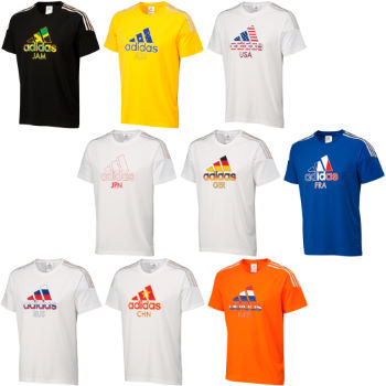 Adidas London 2012 3 Stripe Flag Tee