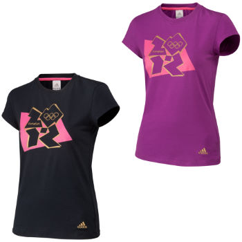 Adidas Ladies London 2012 Logo Graphic Tee
