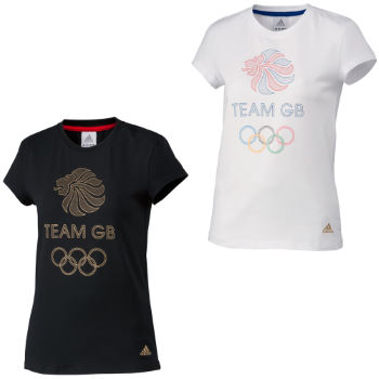 Adidas London 2012 Ladies Team GB Logo Graphic Tee