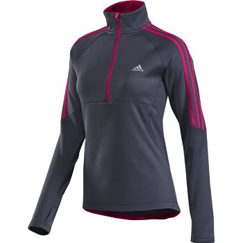 Adidas Ladies Response Long Sleeve Zip Fleece AW12
