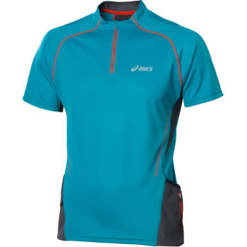 Asics Trail Short Sleeve Run Zip Top AW12