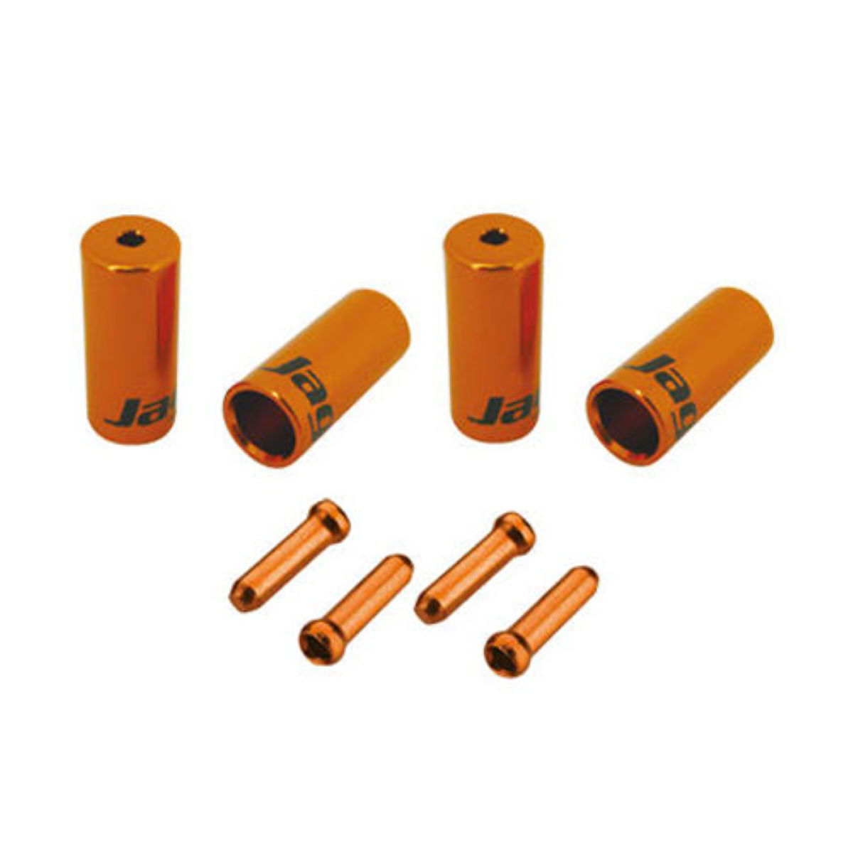 Kits simples Jagwire d'embouts de vélo - One Size Orange