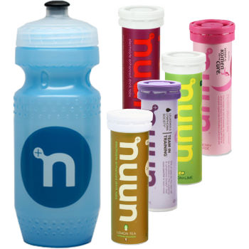 Nuun Active Hydration Tablets (5 Pack and Water Bottle)