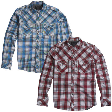 Fox Collin Long Sleeve Woven Shirt