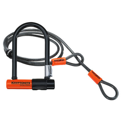 Candado y cable Kryptonite Evolution Mini 7 y KryptoFlex (122 cm)