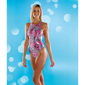 Maru Ladies Aqua Sport Animal Graffiti Tek Back