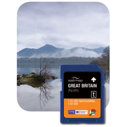 Satmap OS Great Britain Regions 50k and OCM SD Card