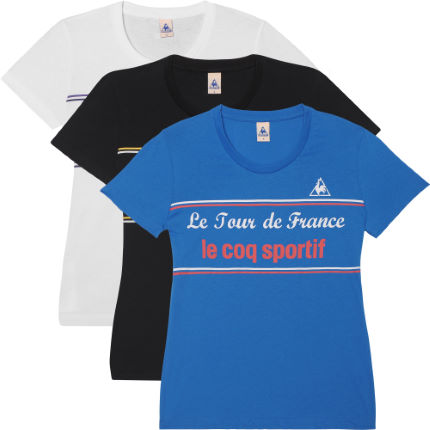 Le Coq Sportif Ladies Tour de France Retro T-Shirt - 2012