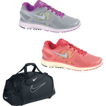 Nike Ladies Lunareclipse Plus 2 Shoes and Duffel Bag