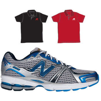 New Balance M880BS 2E Width Shoes With Free Polo Shirt