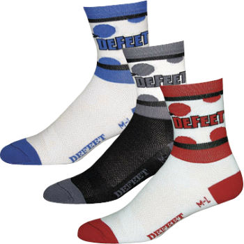 DeFeet Aireator King of The Mountians Polka Dot Socks