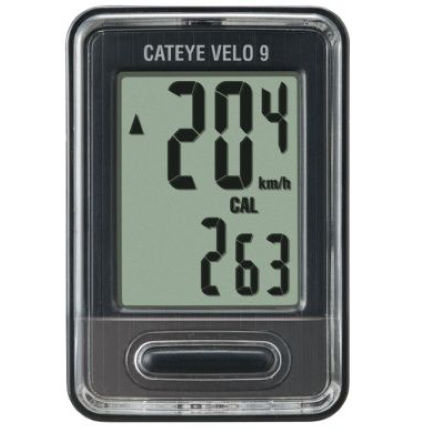 Ciclocomputador Cateye Velo 9 (con cable)