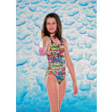 Maru Aqua Kids Girls Scribble Pacer Square Back