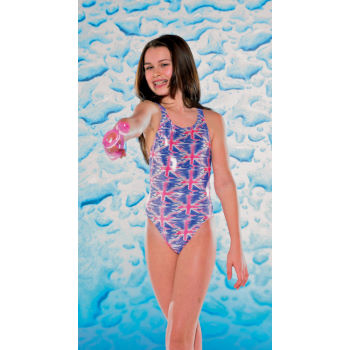 Maru Aqua Kids Girls Union Jack Sparkle Rave Back