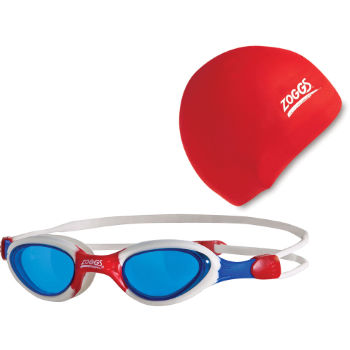 Zoggs Junior Hero Swimming Goggle Plus Free Swim Cap
