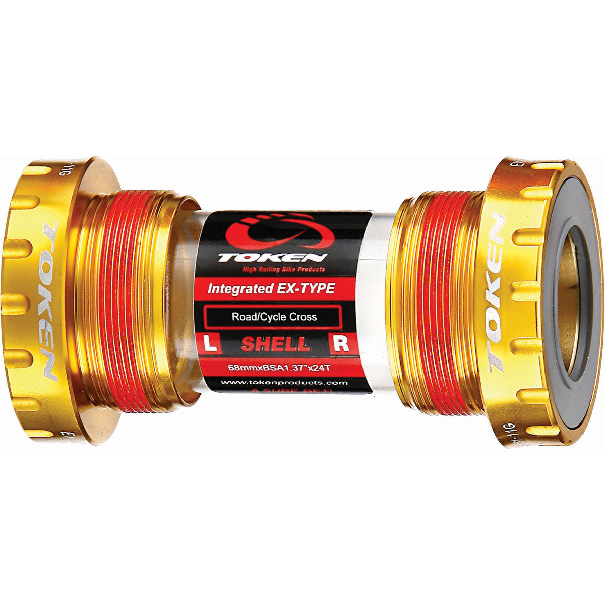 Roulements Tiramic Token TK878TBT Road BSA 68mm EX BB - Taille unique