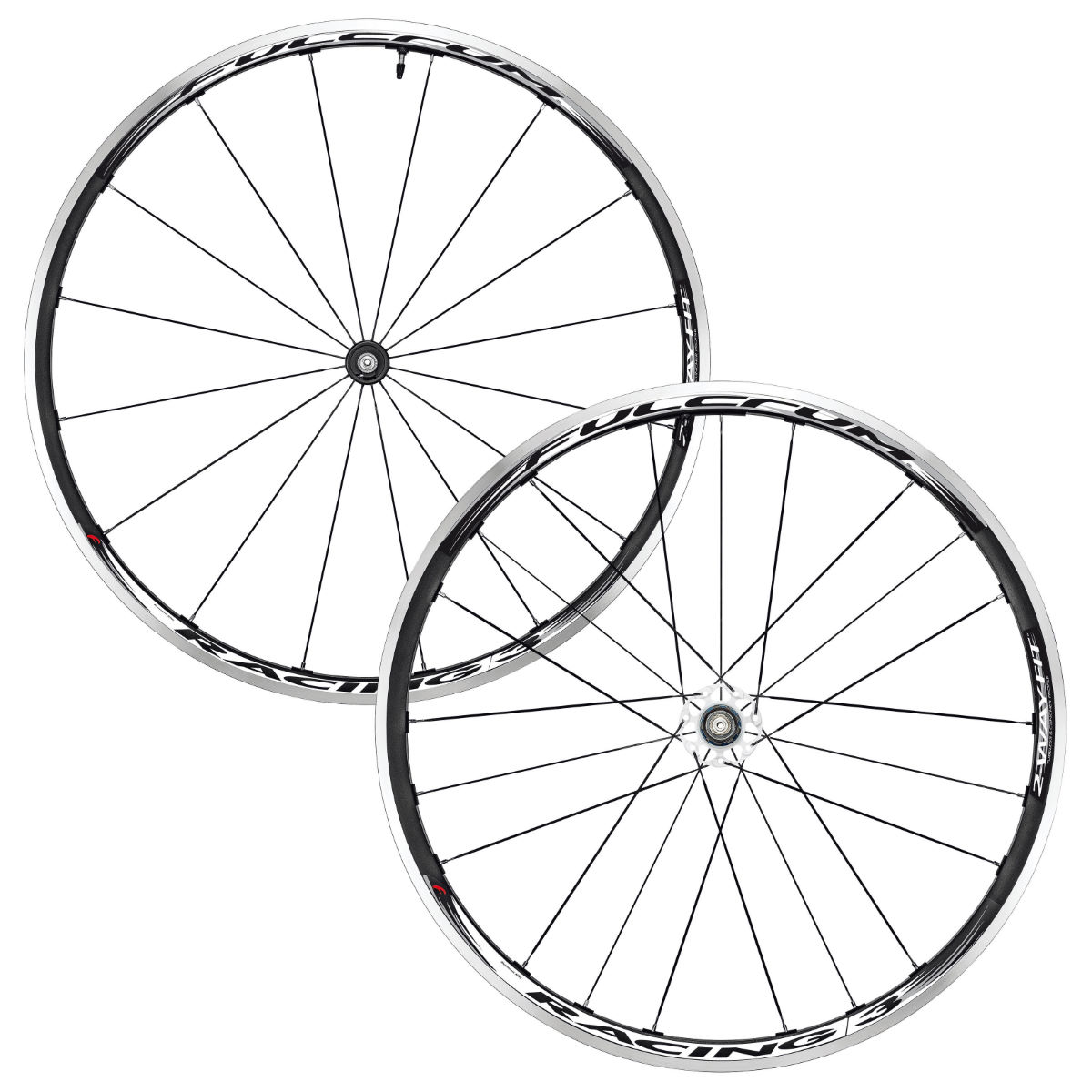 Paire de roues Fulcrum Racing 3 2-Way Fit Tubeless - Noir/Blanc