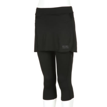 Gore Running Wear Ladies Air 3/4 Lady Tights with Skirt