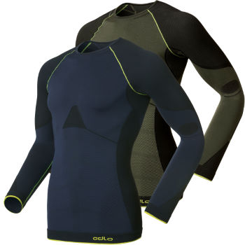 Odlo Evo Warm Green Long Sleeve Base Layer