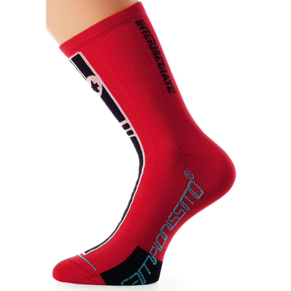 Chaussettes Assos intermediate S7 - (0) Red Swiss Chaussettes vélo