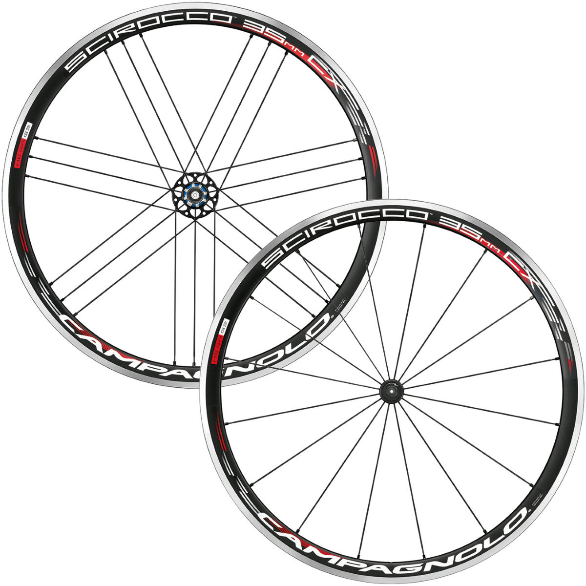 Paire de roues Campagnolo Scirocco 35 CX - Campagnolo Freehub Noir Roues performance