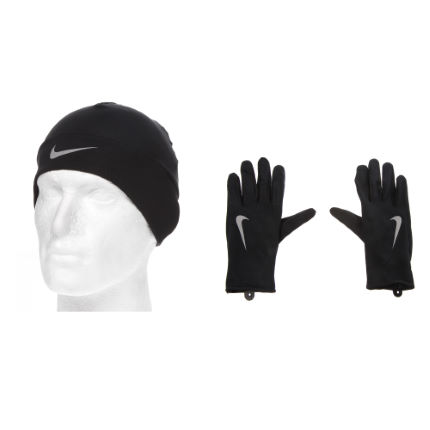 Nike Ladies Running Dri-Fit Glove/Beanie Set - FA14