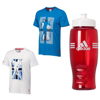 Adidas Olympics 2012 Team GB Run Graphic Tee and Bottle