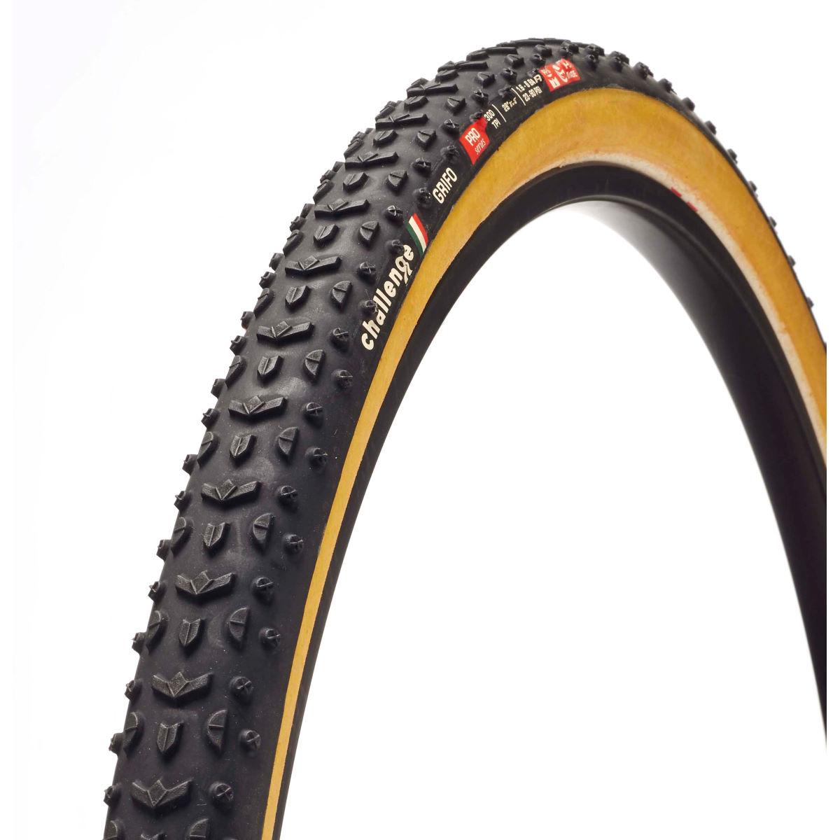 Pneu/Boyau de cyclo-cross Challenge Grifo 33 - 33mm 700c Black/Brown