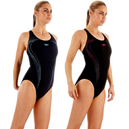 Speedo Ladies PowerTurn Placement Kickback Swimsuit SS13