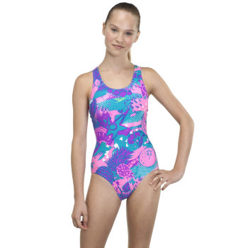 Speedo Girls Fruit Punch Allover Splashback Swimwear