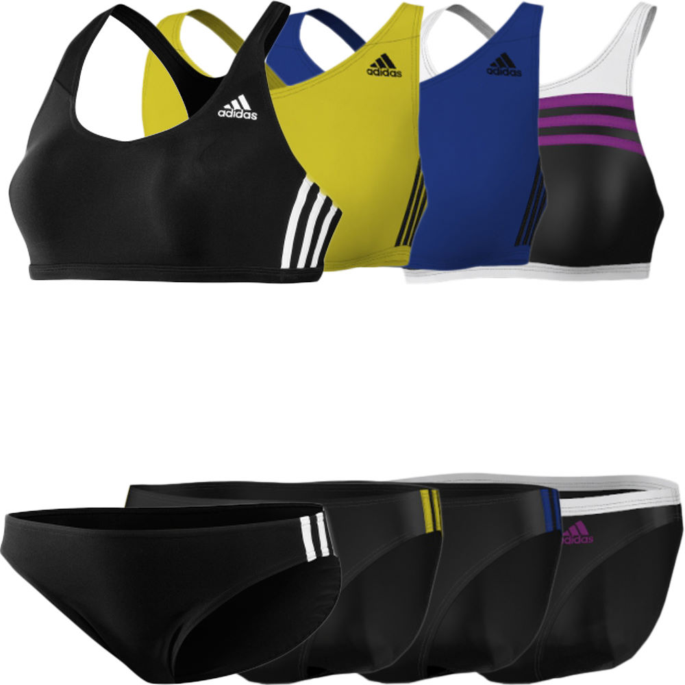 Wiggle adidas ladies 3 stripes two piece swimsuit - Maillot piscine 2 pieces ...