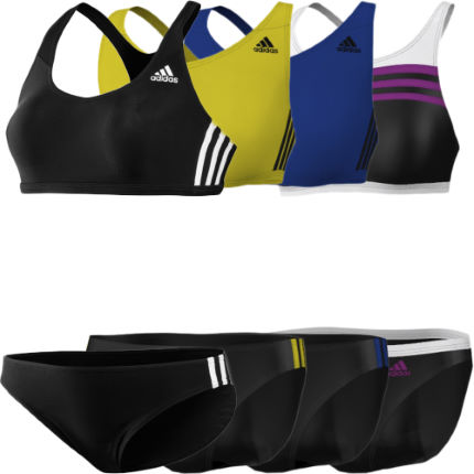 Adidas Ladies 3 Stripes Two Piece Swimsuit
