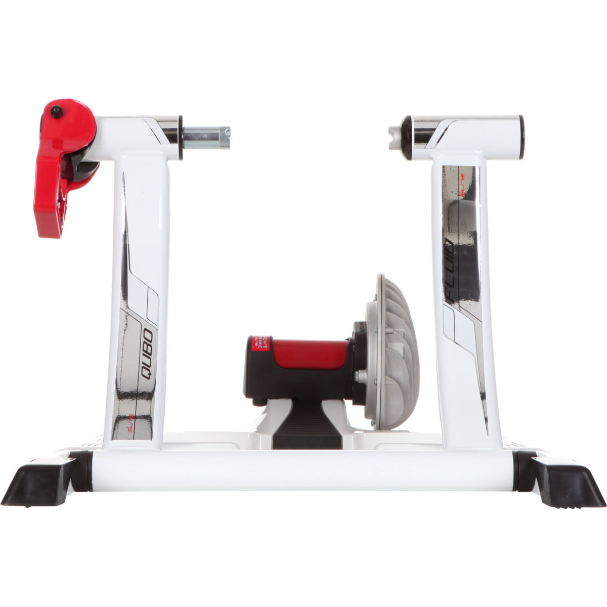 Home trainer Elite Qubo Power Fluid - Taille unique Blanc/Argenté Home Trainer et rouleaux