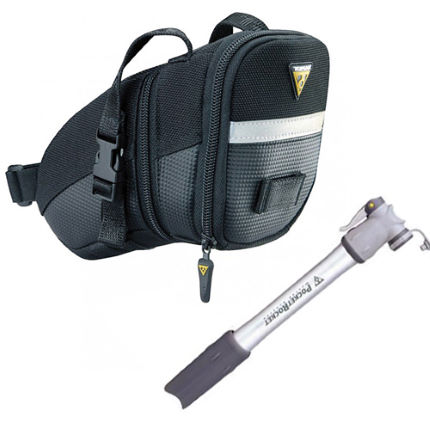 Topeak Aero Wedge Bag and Pocket Rocket Pump Bundle