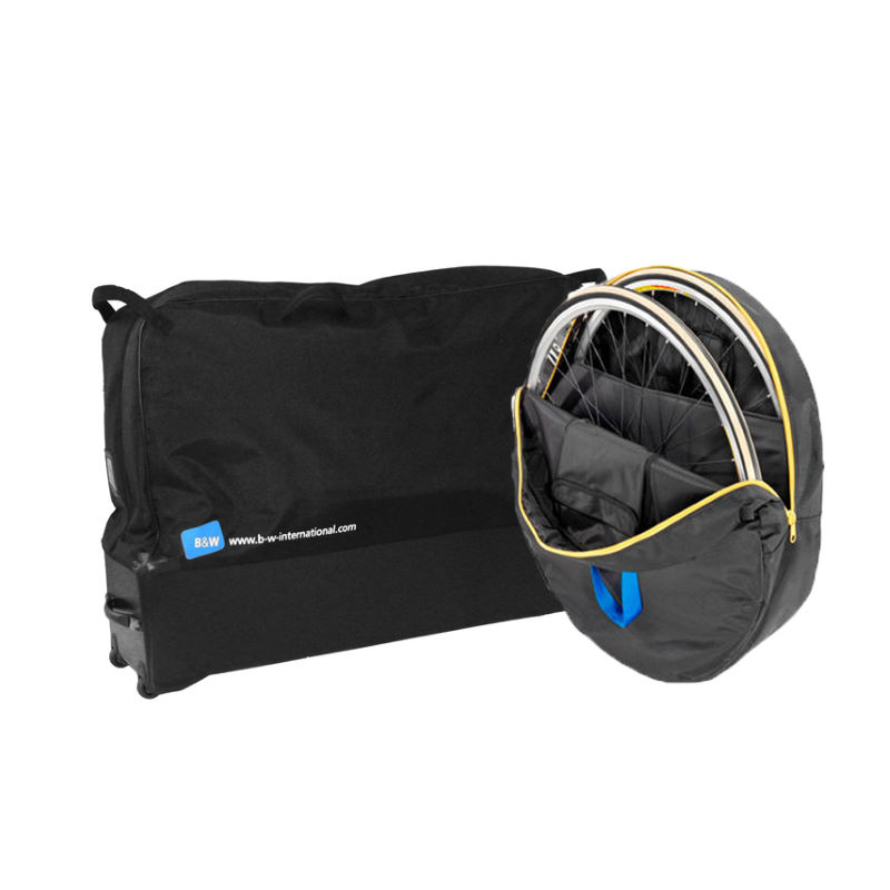 Housses de v lo souples b w bike bag and wheel bag for Housse pour roue