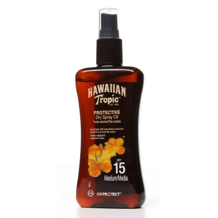 Hawaiian Tropic Protective Dry Oil Spray SPF15 200ml