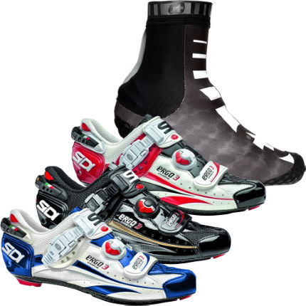 Sidi Ergo 3 Road Shoe and Assos Winter Overshoe Bundle