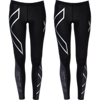 2XU Ladies PWX Elite Compression Tights - Twin Pack