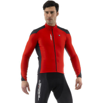Giordana Forma Red Carbon Long Sleeve Jersey