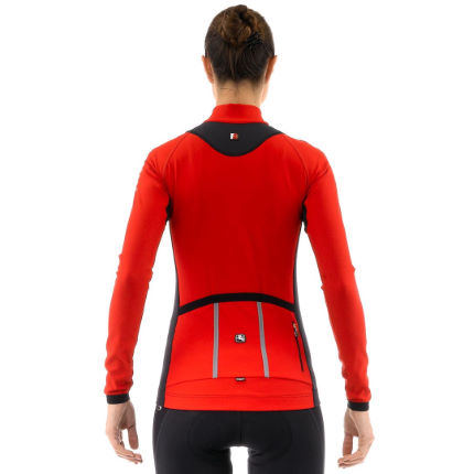 Giordana Ladies Forma Red Carbon Long Sleeve Jersey