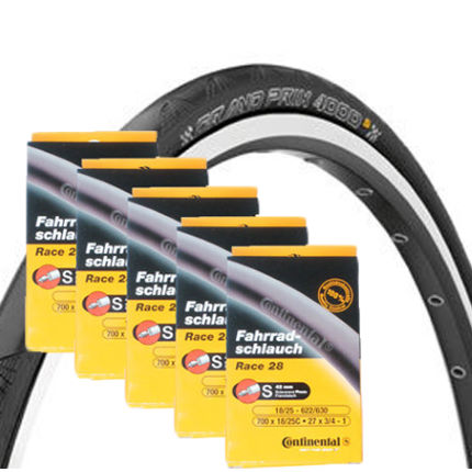 Continental Grand Prix 4000s Tyres and Tubes Bundle