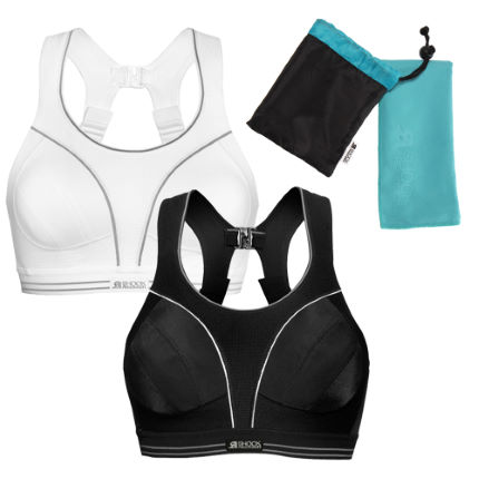 Shock Absorber Run Sports Bra with free Compact Microfiber Towel
