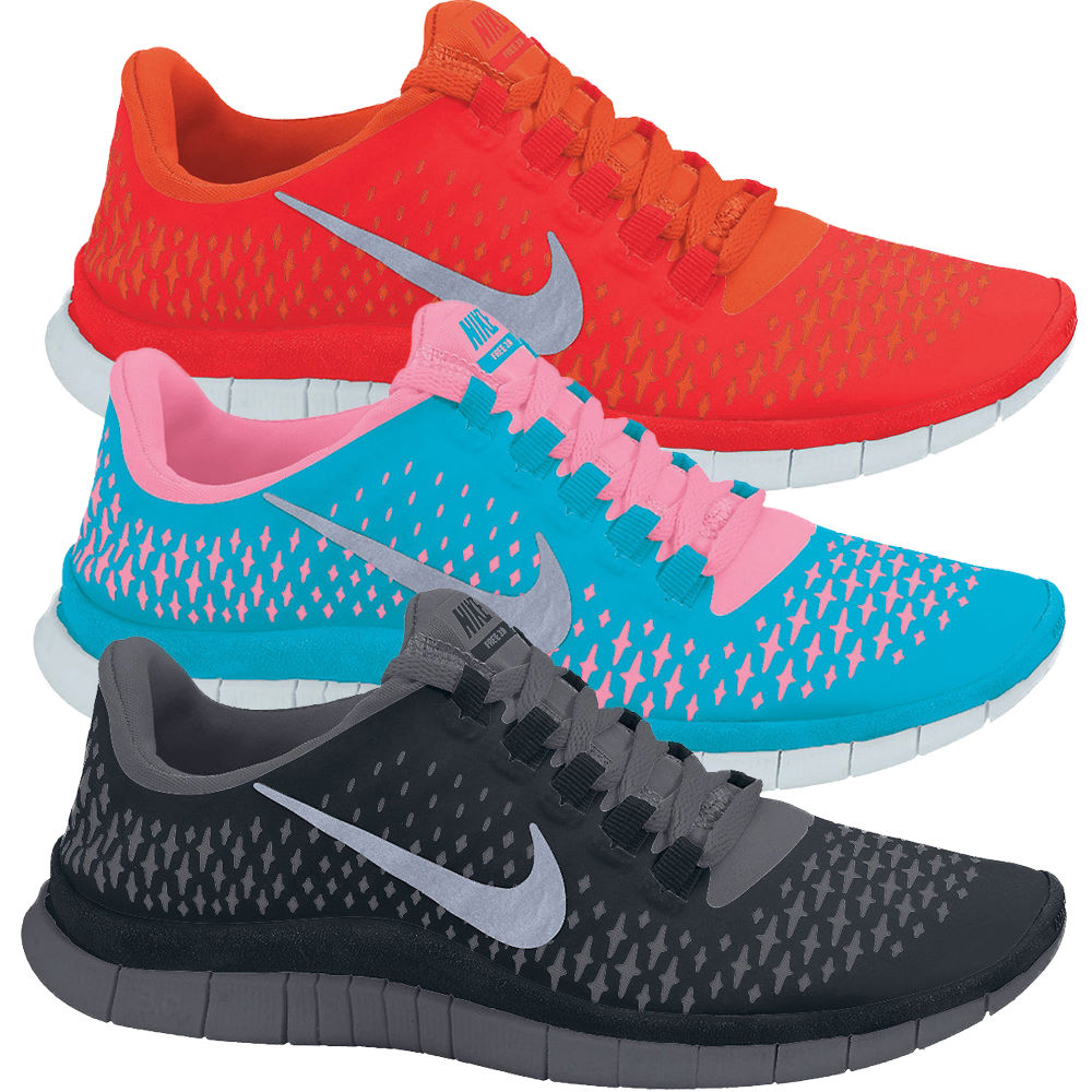 Online Sale Men's Nike Free 3.0 V3 Light Grey/Pink/White Running