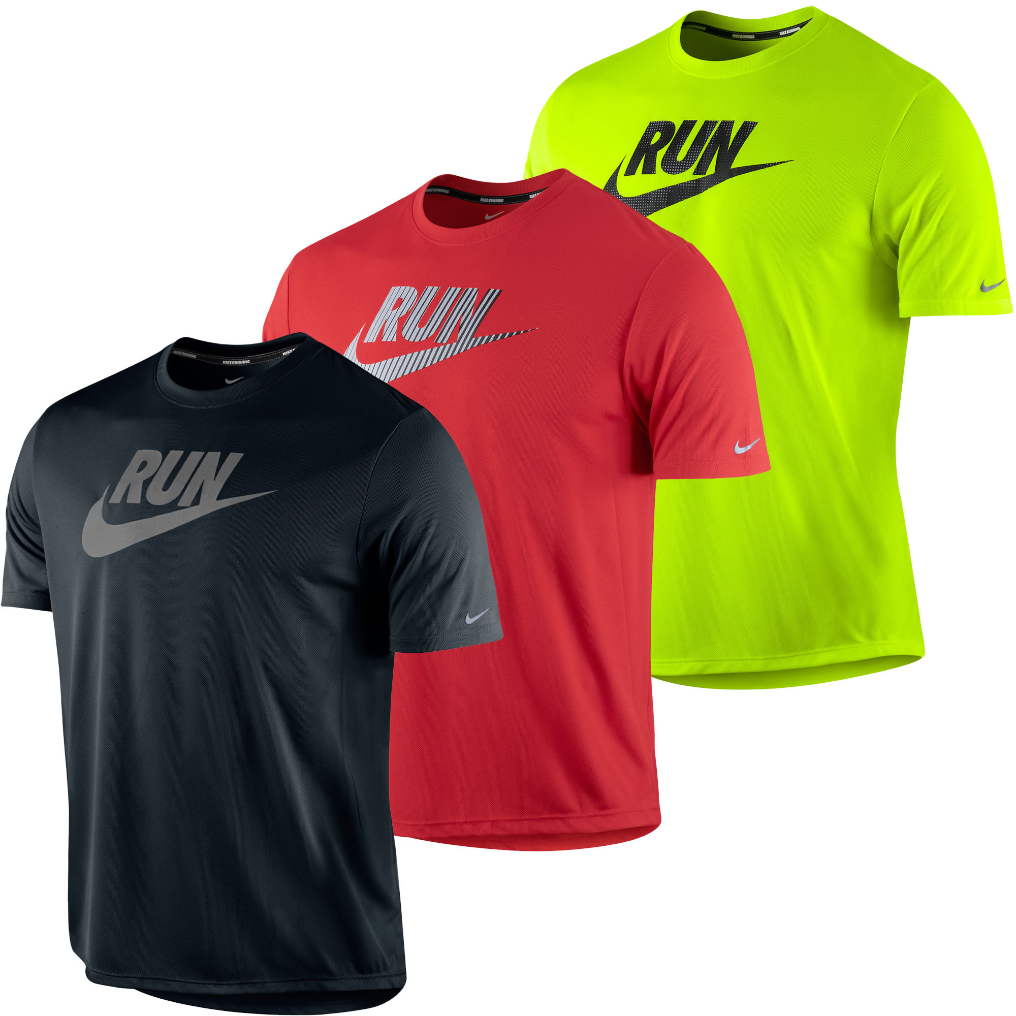 Nike tee shirt running for Nike swoosh logo t shirt