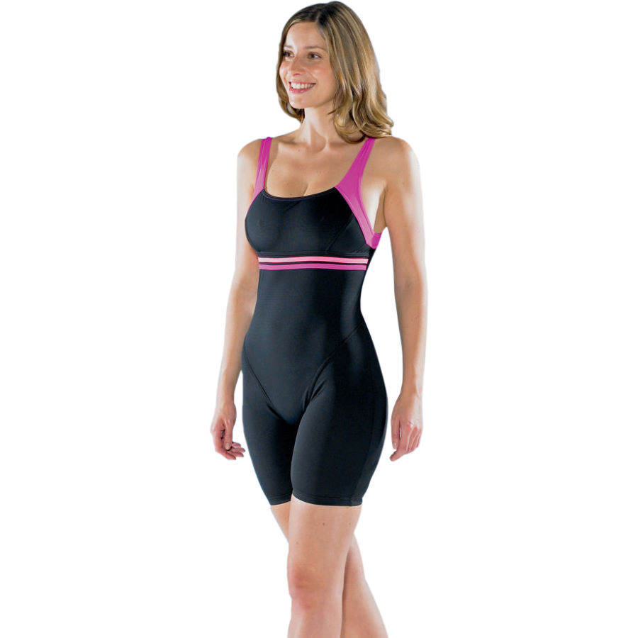 Wiggle maru ladies aqua fitness iona pacer legs swimsuit for Lady fitness