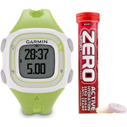 Garmin Forerunner 10 Green and High5 Zero Drink Bundle