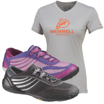 Merrell Ladies Pace Glove Shoes and Free T-Shirt