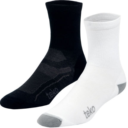 Teko Unisex Light 3/4 Crew Cycling Socks